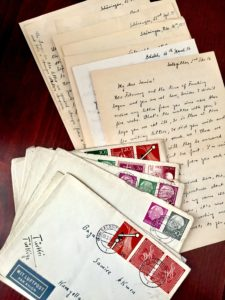 A sample of the letters the author discovered